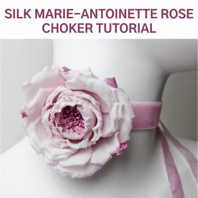 silk marie-antoinette rose tutorial