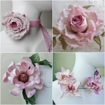 finish handmade flowers