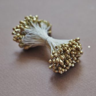golden sparkly stamens