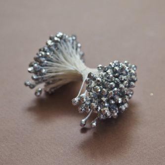 silver sparkly stamens