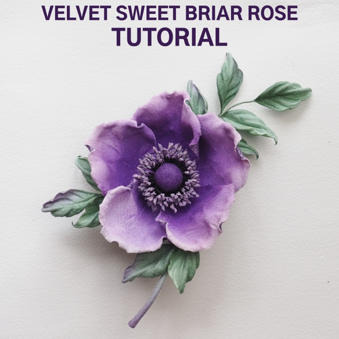 velvet sweet briar rose tutorial
