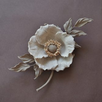 linen Sweet Briar rose