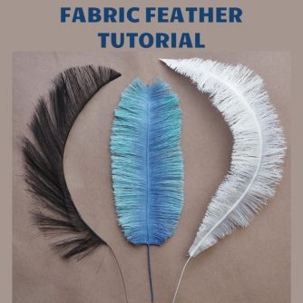 handmade fabric feather tutorial