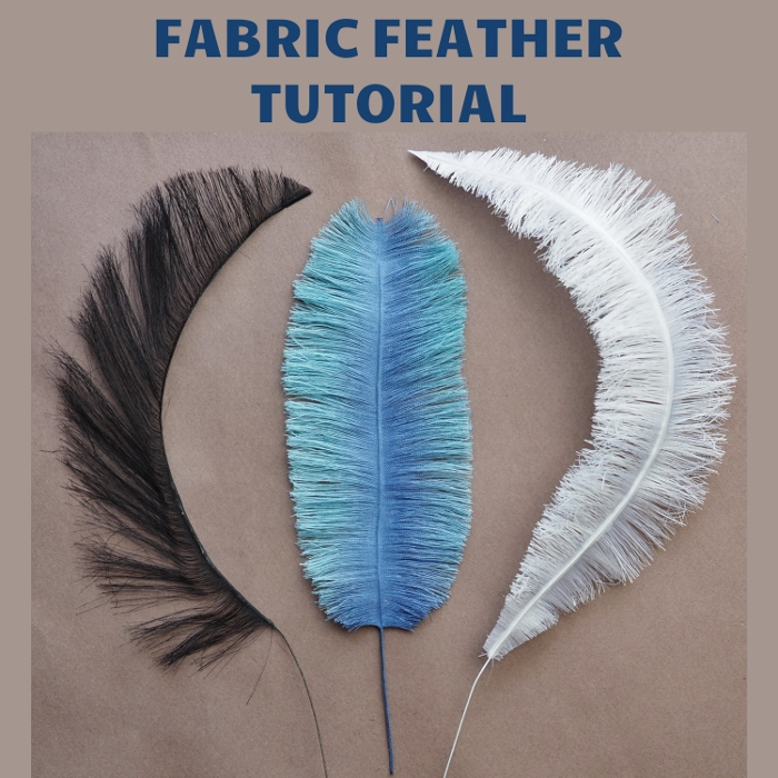 handmade eco friendly fabric feather tutorial