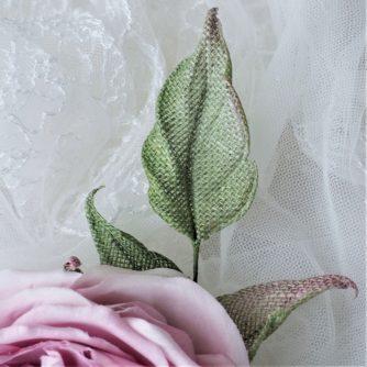 linen rose corsage leaf 800