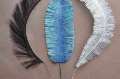 handmade eco-friendly fabric feathers