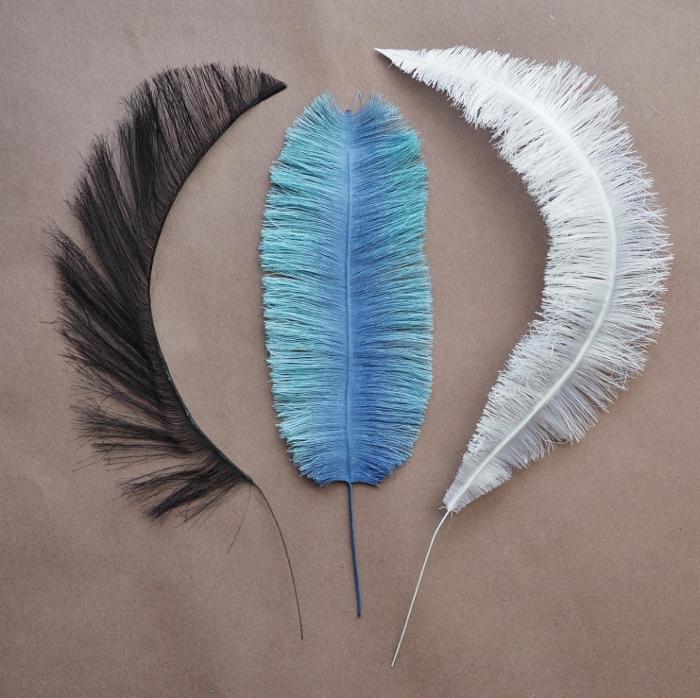 handmade eco-friendly fabric feathers