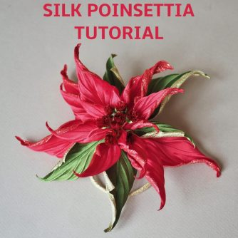 silk poinsettia tutorial