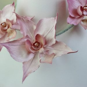 silk orchid flower and pearl tutorial