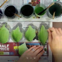 dye velvet leaves