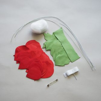 leather kit for handmade rose