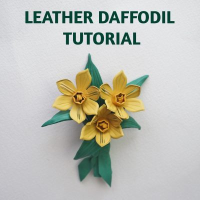Leather Daffodil Corsage tutorial