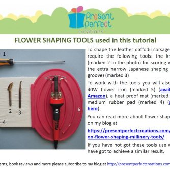 leather daffodils tools