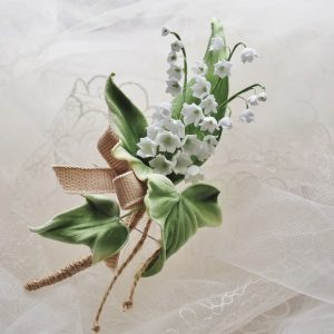 lily of the valley buttonhole