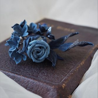 new denim wedding buttonhole