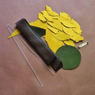 leather sunflower kit stamens
