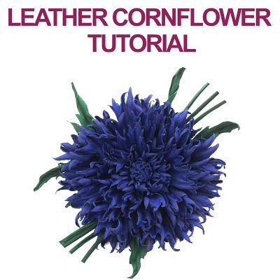 Leather Cornflower Tutorial