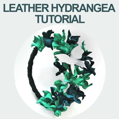 Leather Hydrangea tutorial