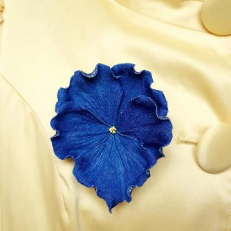 denim pansy flower