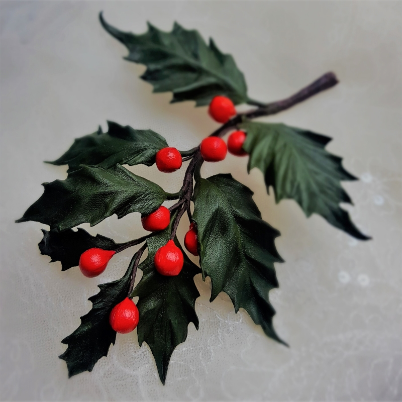 leather holly twig