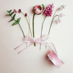 pink flowers buttonhole
