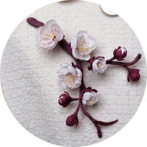 silk plum blossom