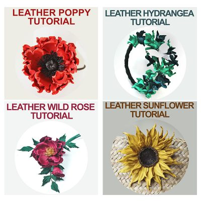 NO TOOL leather flower tutorial bundle