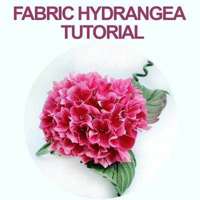 fabric hydrangea tutorial