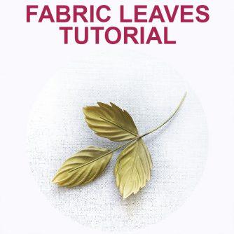 fabric leaves tutorial