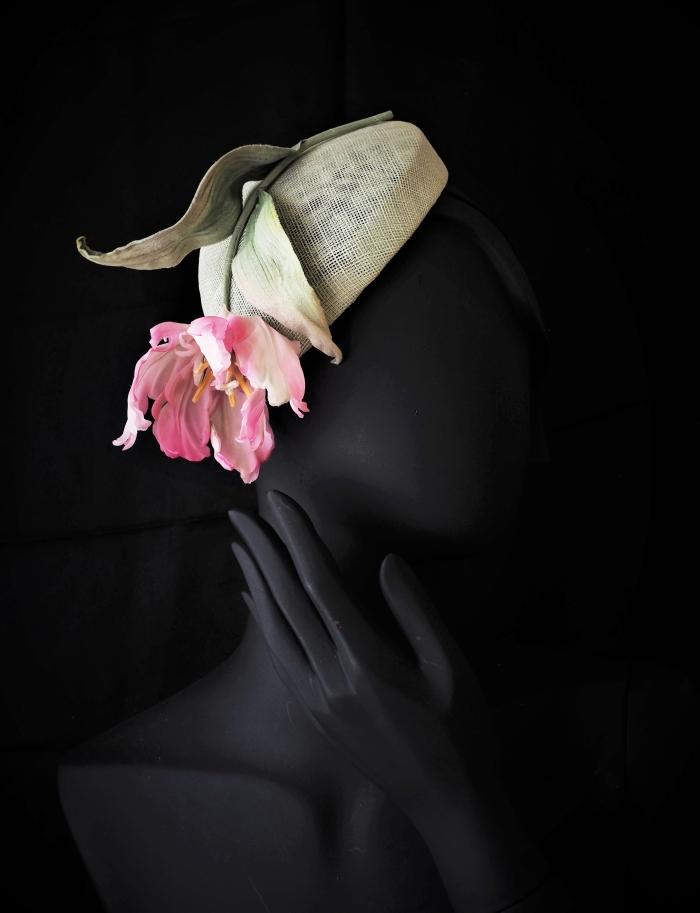 silk parrot tulip hat