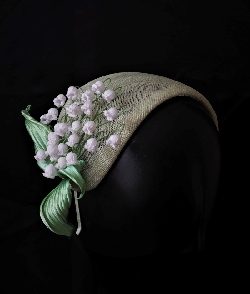 lily of the valley spring headpiece