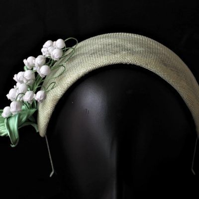 lily of the valley spring headpiece front