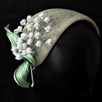 lily of the valley spring headpiece side view 800