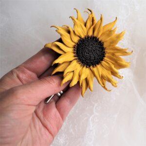 mini leather sunflower SQ