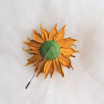 small leather sunflower back 800