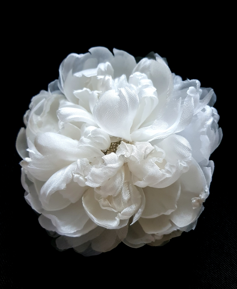 white wedding silk peony
