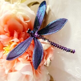 purple dragonfly on rose 700