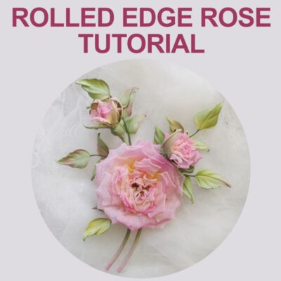 rolled edge rose tutorial cover