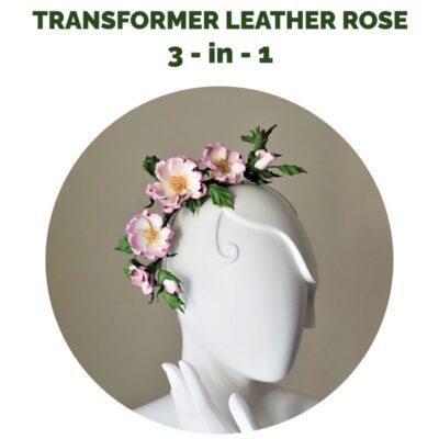 transformer leather rose DIY kit