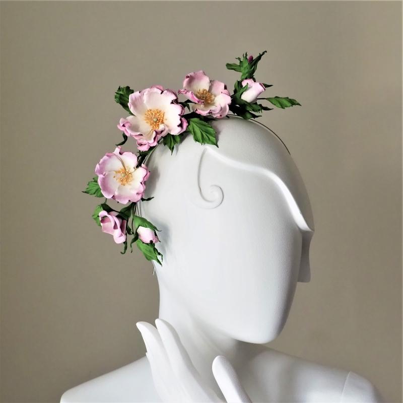 transformer leather rose headband
